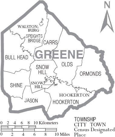 Greene County Maps - County maps of nc